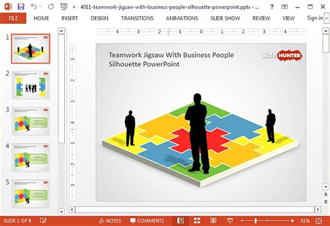 Best Jigsaw Puzzle Templates For Powerpoint Powerpoint Jigsaw Template 2