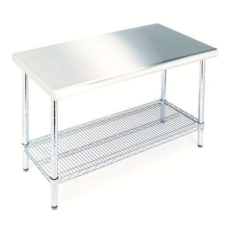 seville classics stainless steel kitchen utility table