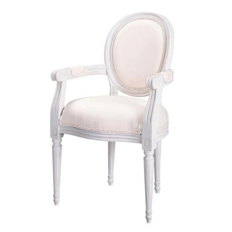 ivory armchair cotton cabriolet armchair in ivory louis maisons du monde