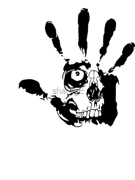 """Skull hand"" Stickers by sharky2 