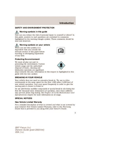 car owners manuals free downloads 2007 ford focus on board diagnostic system 2007 ford focus owners manual