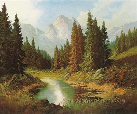 Landscape Paintings Reproductions Gallery Stretched Classical Painting Reproduction Artist
