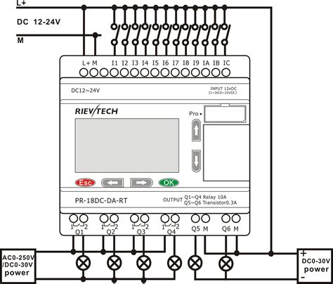 pr 18dc da and mitsubishi plc wiring diagram wiring diagram