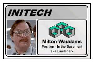 Office Space Is This For The Company Office Space Initech Name Badges Pictures