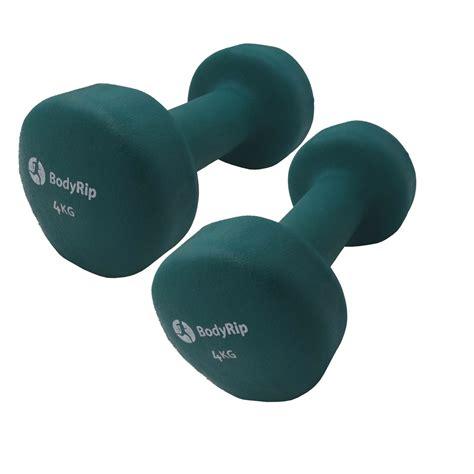 Dumbell 2 Kg bodyrip fitness neoprene neo weights dumbbells 1kg 2kg 3kg 4kg 5kg exercise ebay