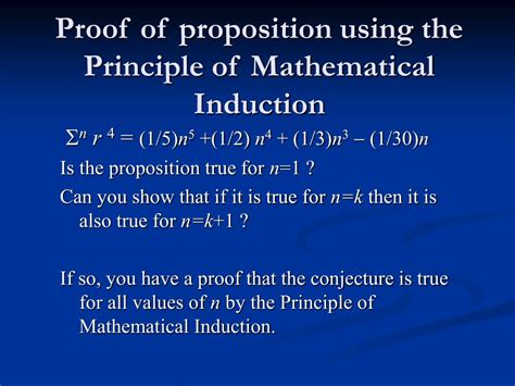 principle of induction ppt the deductive method of proof by mathematical induction powerpoint presentation id 587408