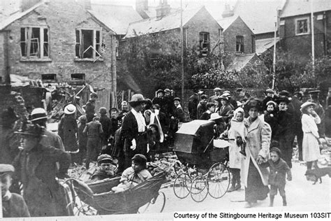 old boat cafe maidstone damage caused by a zeppelin raid on 4th june 1915 kent