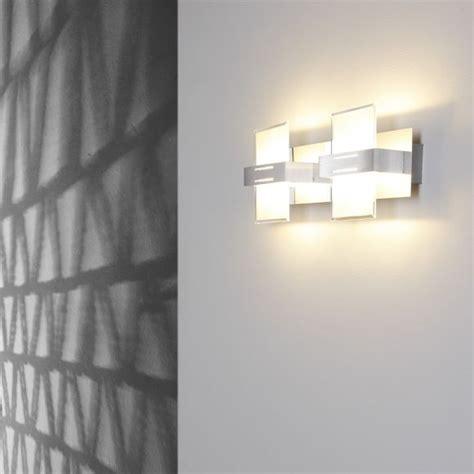 Moderne Wandleuchten by Moderne Wandleuchte 2 Flammig Aluminium Chrom Glas