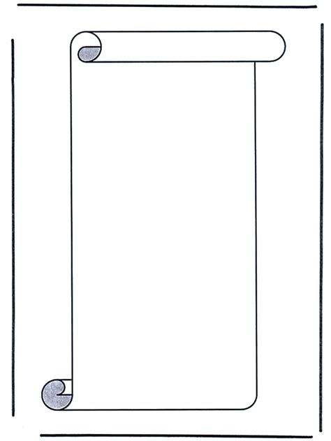 Bible Scrolls Coloring Pages Scroll Coloring Page