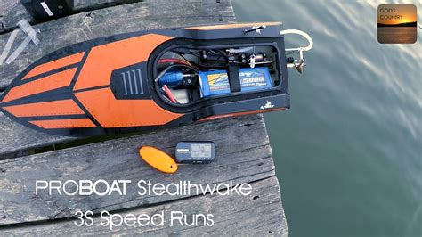 youtube boat gps proboat stealthwake brushless 3s speed run with gps