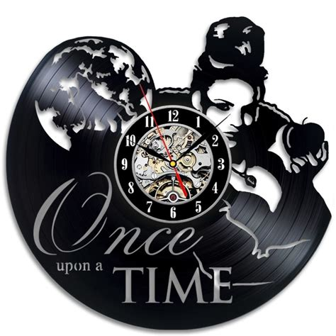 once upon a time home decor once upon a time vinyl record clock home decor wall design