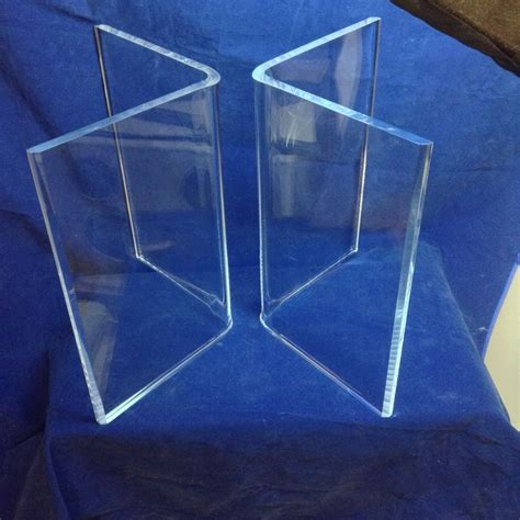 clear base table l clear acrylic lucite 1 quot v quot shaped dining table bases