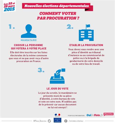 bureau de vote 駘ections professionnelles elections d 233 partementales 2 le vote par procuration