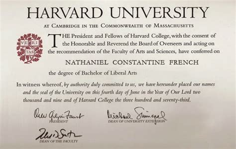Exposing The Truth Robert Duncan S Harvard Degree Real Harvard Diploma Template