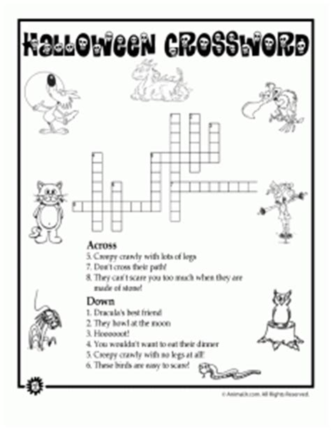 4 best images of halloween easy printable crossword 5 new halloween crossword puzzles printable easy