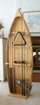Rod Rack For Boat by Unfinished Boat Canoe Fishing Rod Display Storage Rack Pole