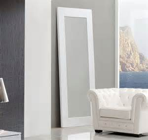 coco spain made standing floor mirror in white crocodile