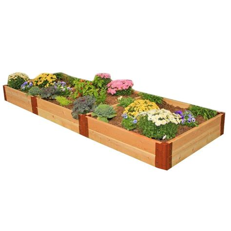 Frame It All Raised Garden Bed Kit Frame It All Two Inch Series 4 Ft X 12 Ft X 12 In Cedar Raised Garden Bed Kit 300001115 The