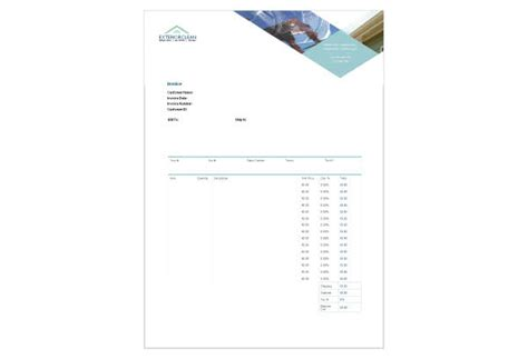 window cleaning invoice template invoice template 2017