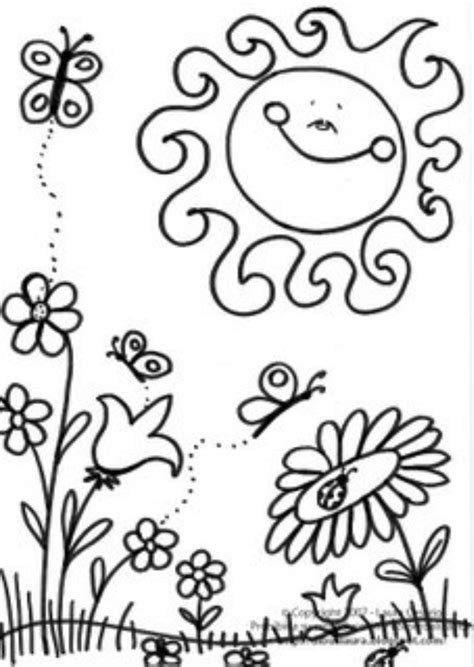 coloring pages spring free spring garden coloring pages