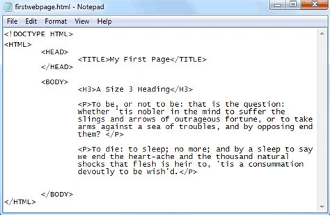 format html tags in notepad image gallery html break tag