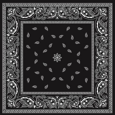 tattoo bandana design black with white bandana patterns design vector 02