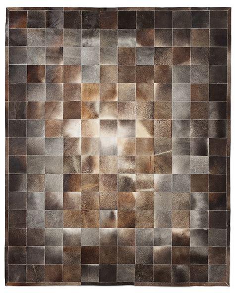 Cowhide Tile Rug South American Cowhide Tile Rug Charcoal