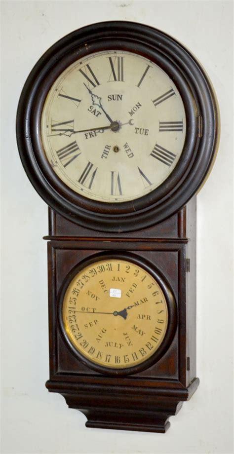 E Calendar Clock Antique E N Welch Calendar Clock T O With A P
