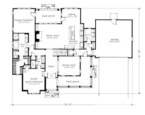 southern living floorplans creek mitchell ginn print southern living house plans