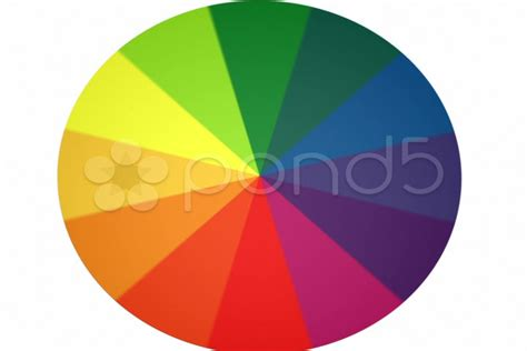 spinning color wheel spinning color wheel contains looping section ntsc