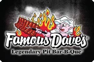 Famous Dave S Gift Card - famous dave s bbq gift cards by retailmenot