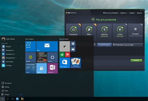 secure your windows 10 machine with avg