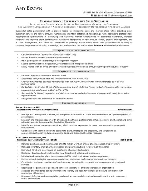 pharmaceutical resume sles pharmaceutical sales resume lifiermountain org