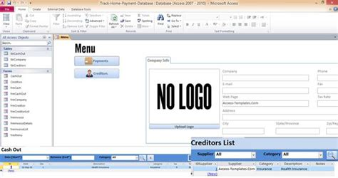 microsoft access database tutorial creating a menu form png