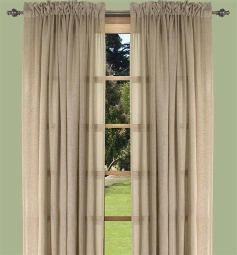 rod pocket drapery panels lucerne semi sheer two way rod pocket curtain panels