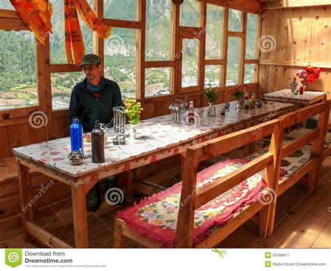 dining designs in nepal dining room in lodge in upper pisang nepal editorial