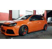 Orange Mk4 Vw Golf Gti 24v Vr6 3pc Wheels Static Airride Low Slammed