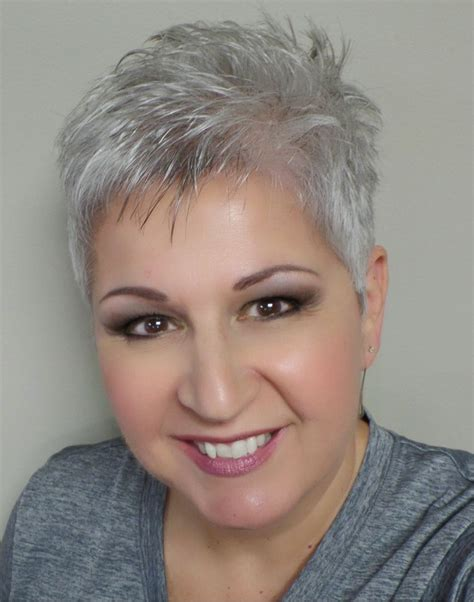silver pixie hair cut short silver pixie cut silver gray white pinterest