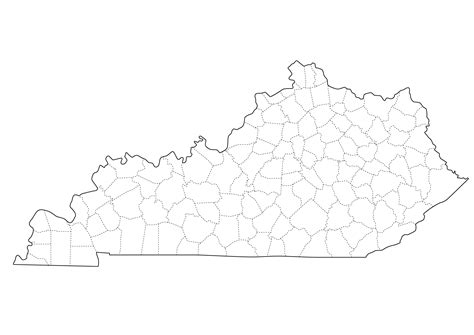 kentucky map county lines ky