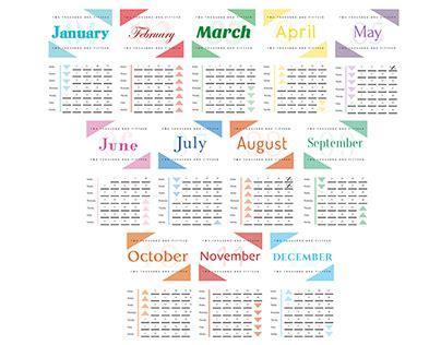 typography 2015 calendar 2015 typography calendar on behance