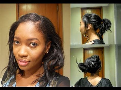 simple hairstyles for relaxed hair easy heatless hairstyles relaxed hair short or medium