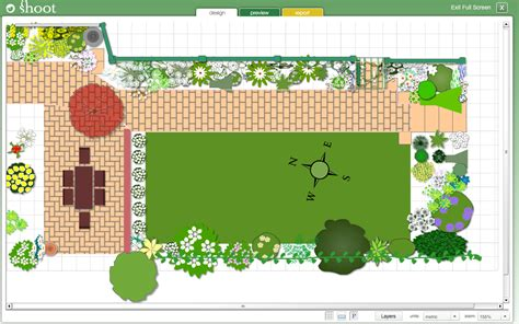 Backyard Landscaping Software by Exciting Garden Layout Tool Remarkable Decoration