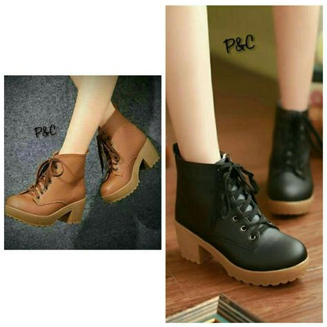 Sepatu Wanita Coklat Utk Kerja Casual jual beli sepatu kets semi boots wanita casual cewek kerja formal baru sepatu sneakers