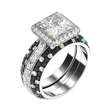 Wedding Ring Eclipse by Eclipse Halo Princess Cut Engagement Ring