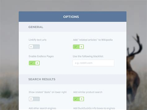 ui layout options simple option panel ui ux flat design and flat ui