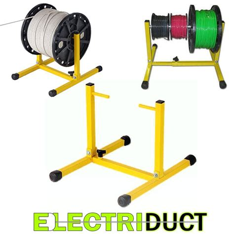 Electrical Wire Spool Rack by Reel Stand Adjustable Portable Wire Cable Cord Multicoil