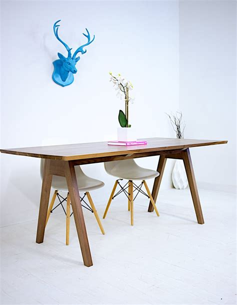 mid century modern trestle table modern trestle tables for your interior