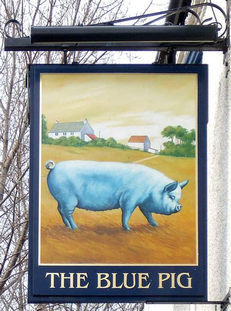 pig pub the blue pig pub sign capewell road 169 gordon cragg geograph britain and ireland