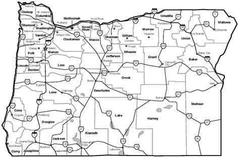 map of oregon state highways oregon blue book oregon almanac oregon highway map
