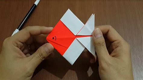 cara membuat origami ikan mudah cara membuat ikan dengan kertas origami dengan mudah youtube
